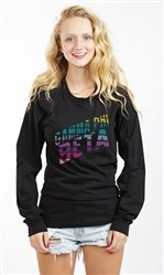 GAMMA PHI BETA STRIPE DOWN AA LONG SLEEVE