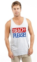 BEACH PLEASE UNISEX TANK