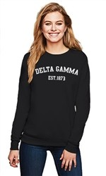 DELTA GAMMA COLLEGE CREWNECK SWEATER