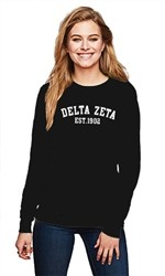 DELTA ZETA COLLEGE CREWNECK SWEATER
