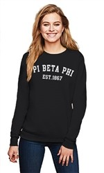 PI BETA PHI COLLEGE CREWNECK SWEATSHIRT