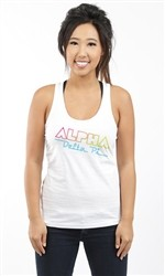 ALPHA DELTA PI EIGHTIES RACERBACK TANK