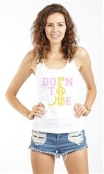 BORN TO BE GAMMA PHI BETA RACEBACK TANK