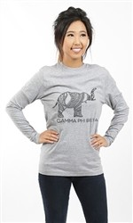 GAMMA PHI BETA ELEPHANT LONG SLEEVE TEE