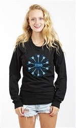 GAMMA PHI BETA HEART ARROWS LONG SLEEVE TEE