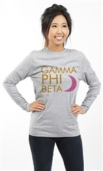 GAMMA PHI BETA MOON LONG SLEEVE TEE