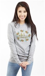 CHI OMEGA SPRING FLOWERS LONG SLEEVE TEE