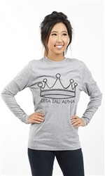 ZETA TAU ALPHA CROWN LONG SLEEVE TEE
