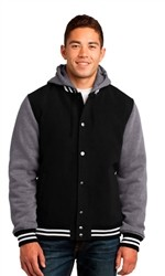 Sport Tek Unisex Insulated Letterman Varsity Jacket-Fast Shipping