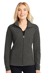 Port Authority LadiesHeather Microfleece Full-Zip Jacket-Fast Shipping