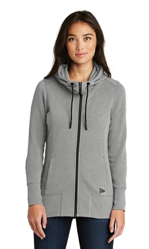 New Era Ladies Tri-Blend Fleece Full-Zip Hoodie
