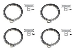 TPMS Strap Kit. 4 Straps, 4 Brackets, 4 Band Clips TPMS Accessories