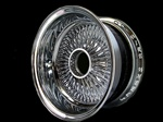 13X7 Reverse 100 Spokes ALL CHROME