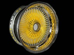 13x7 Reverse 100 Spokes (Powder Coated Yellow)