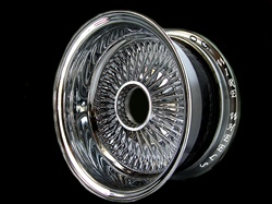 14X7 Reverse 100 Spokes ALL CHROME