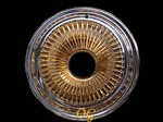 14X7 Reverse 100 Spokes CENTER GOLD USA 24k