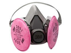 3M 6200 Medium Reusable Respirator Assembly with 3M 2091CN KP100 Filter