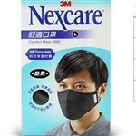 3M Nexcare Comfort Mask 8550 Black Medium