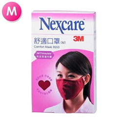 3M Nexcare Comfort Mask 8550 Red Medium