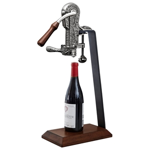 Rogar Pewter Champion Opener with Dark Wood Stand