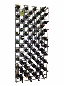 Black Metal Lattice Wine Rack 152 or 304 bottles
