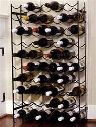 Alexander 60 Bottle Wine Rack - Black