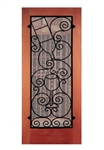 Seneca Falls Wrought Iron Grille for Door