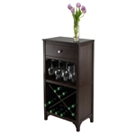 Ancona wine cabinet with stemware holder
