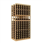 Double Deep 8 Column Wine Rack Display