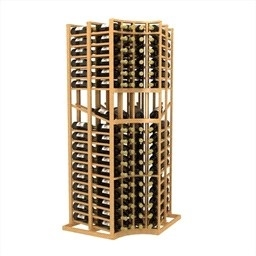 Double Deep Curved Corner Display Wine Rack