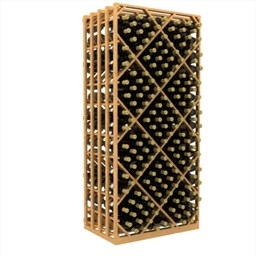 Double Deep Lattice Diamond Bin Wine Rack