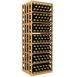 Double Deep Rectangular Wine Rack Bin and Case