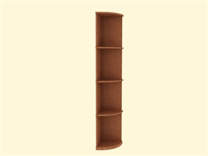 Solid Quarter Round Shelf