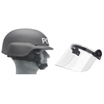 United Shield PST SC 650 Ballistic Helmet & Face Shield Kit