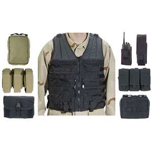 Elite MOLLE Tactical Vest Kit w/ 7 Pouches