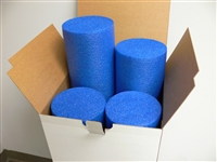 "4-Pack Blue Standard Density 6"" x 12"" Foam Roller"