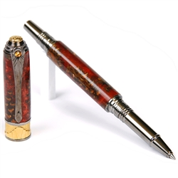Art Deco Rollerball Pen - Copper Pine Cone