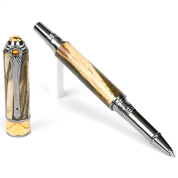 Art Deco Rollerball Pen - Spalted Hackberry