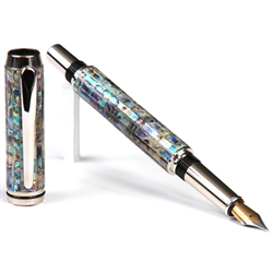 Baron Fountain Pen - Paua Abalone Shell