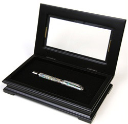 Fancy Black Maple Gift Box with Glass Display Top