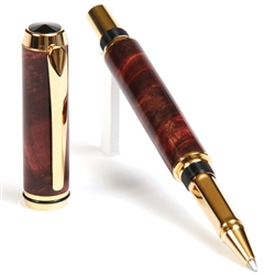 Baron Rollerball Pen - Red Maple Burl