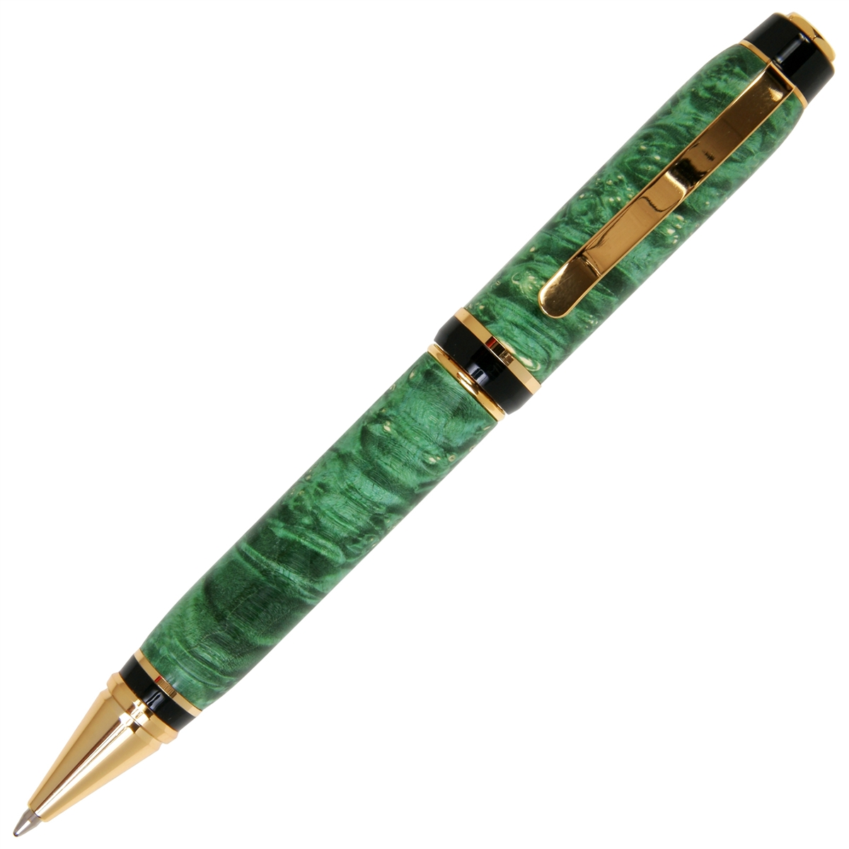 Cigar Twist Pen - Green Box Elder