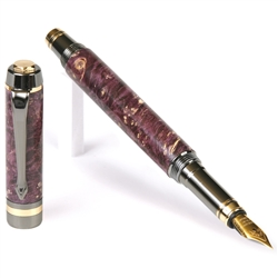 Classic Elite Fountain Pen - Purple Box Elder