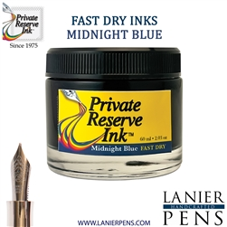 Private Reserve Midnight Blues Fountain Pen Ink Bottle 15-F-MB - Lanier Pens