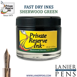 Private Reserve Sherwood Green Fast Dry Fountain Pen Ink Bottle 04-F-SG - Lanier Pens