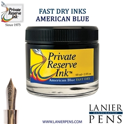 Private Reserve American Blue Fast Dry Fountain Pen Ink Bottle 25-F-AB - Lanier Pens