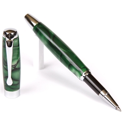 E423 - Green & Black Rollerball Pen