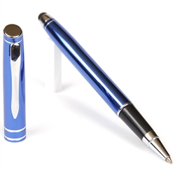 D202 - Blue Rollerball Pen with Stylus