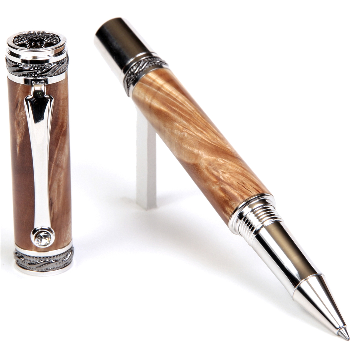 Majestic Rollerball Pen - Maple Burl