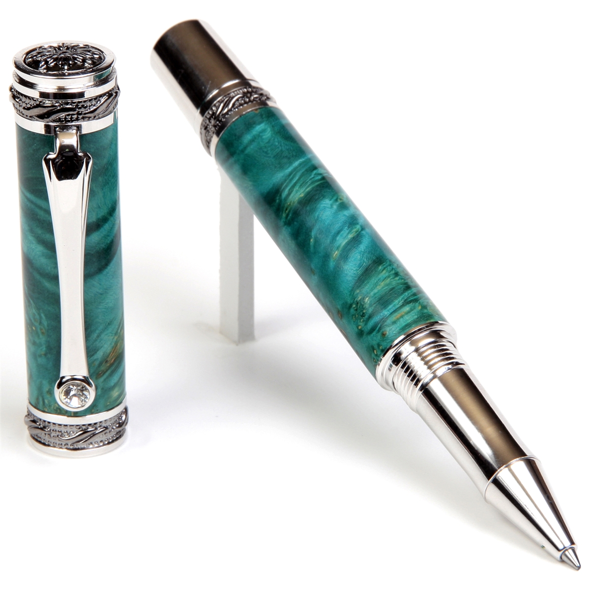 Majestic Rollerball Pen - Turquoise Box Elder